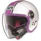 White/Pink N21 Visor Duetto Helmet