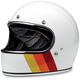 Gloss White Tri Stripe Gringo Helmet