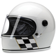 Gloss White Checker Stripe Gringo S Helmet