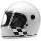 Gloss White Checker Stripe Gringo S Helmet