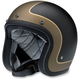 Flat Black/Gray/Gold Tracker Bonanza Helmet