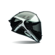 Gloss Black/White Tracer Race Star Helmet