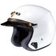 White RJ Platinum-Le Helmet