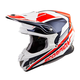 Neon Red/Blue VX-R70 Ascend Helmet