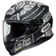 Matte Black/White RF-1200 Marquez Digi Ant Helmet