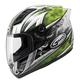 White/Green GM69S Platinum Series Crusader 2 Helmet