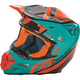 Teal/Orange/Black F2 Carbon Fastback Helmet