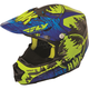 Blue/Green HMK Stamp F2 Carbon Helmet