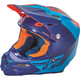 Matte Blue/Orange F2 Carbon Pure Helmet