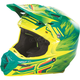 Teal/Hi-Vis Yellow F2 Carbon MIPS Shorty Replica Helmet