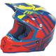 Blue/Red/Hi-Vis Yellow F2 Carbon MIPS Zoom Helmet