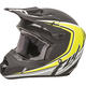 Youth Matte Black/Hi-Vis Kinetic Fullspeed Helmet