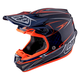 Navy Pinstripe SE4 Carbon Helmet