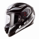 Black/White/Gray Geo Arrow Full Face Helmet
