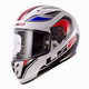 White/Black/Red/Blue Geo Arrow Full Face Helmet