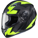 Flat Black/Hi-Vis Yellow MC-3HF CS-R3 Treague Helmet