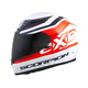 White/Orange EXO-R2000 Fortis Helmet