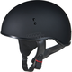 Flat Black GM45 Naked Half Helmet