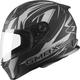 Flat Black/Silver FF49 Derk Street Helmet