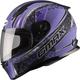 Flat Black/Purple FF49 Elegance Street Helmet