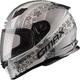 Flat White/Silver FF49 Elegance Street Helmet