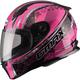Black/Pink FF49 Elegance Street Helmet