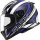 White/Blue/Black  FF49 Warp Street Helmet