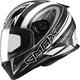 Flat Silver/White/Black FF49 Warp Street Helmet