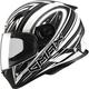 Flat White/Black FF49 Warp Street Helmet