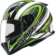 White/Hi-Viz Green/Black FF49 Warp Street Helmet