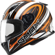 White/Hi-Viz Orange/Black FF49 Warp Street Helmet