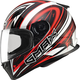 White/Red/Black FF49 Warp Street Helmet