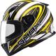 White/Yellow/Black FF49 Warp Street Helmet