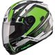 White/Hi-Viz Green/Black FF88 X-Star Helmet