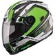 White/Hi-Viz Green/Black FF88 X-Star Helmet