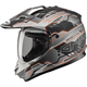Flat Black/Hi-Viz Orange GM11D Adventure Dual Sport Helmet