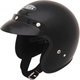 Flat Black GM2 Open Face Helmet