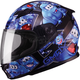 Youth Black/Blue GM49Y Attack Street Helmet
