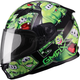 Youth Black/Green GM49Y Attack Street Helmet