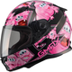 Youth Black/Pink GM49Y Attack Street Helmet