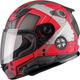 Youth Flat Red/Dark Silver GM49Y Trooper Street Helmet