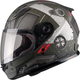 Youth Flat OD Green/Black/Red GM49Y Trooper Street Helmet