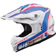 White/Pink/Blue MX86 Pink Ribbon Helmet