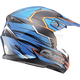 Blue/Hi-Viz Orange MX86 Helmet