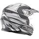 Flat Black/Silver/White MX86 Raz Helmet