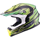 Black/Green/Hi-Viz Yellow MX86 Raz Helmet