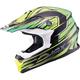 Black/Green/Hi-Viz Yellow MX86 Raz Helmet