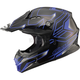 Black/Blue MX86 Step Helmet