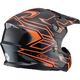 Black/Hi-Viz Orange MX86 Step Helmet