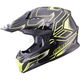 Black/Hi-Viz Yellow MX86 Step Helmet